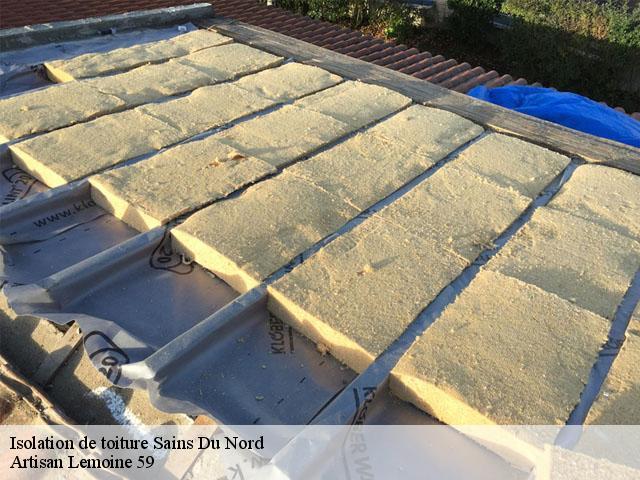 Isolation de toiture à Sains Du Nord 59177 Tèl: 06.52.83.75.52